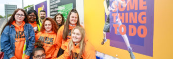 YOUNG PEOPLE UNVEIL YOUTH ZONE SITE HOARDINGS