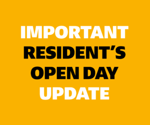 Update: Resident's Open Day